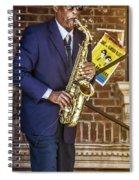 Smooth Sax Man Spiral Notebook