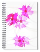 Smudged Floating Pink Flowers Spiral Notebook