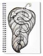 Snake On A Leaf Spiral Notebook