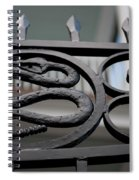 Snakes On A Gate Spiral Notebook