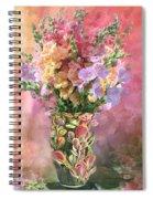 Snapdragons In Snapdragon Vase Spiral Notebook