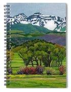 Sneffels Range Spring Acrylic Spiral Notebook