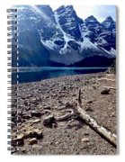 Snow Above Moraine Lake Spiral Notebook
