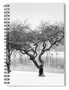 Snow Along The Schuylkill River Spiral Notebook