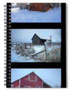Snow And Barn Trio Spiral Notebook