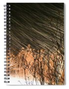 Snow And Wind Spiral Notebook