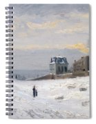 Snow At Montmartre Spiral Notebook