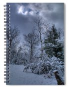 Snow At Sunrise Spiral Notebook