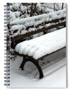 Snow Bench Spiral Notebook