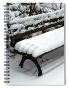 Snow Bench Spiral Notebook