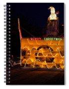 Snow Blower As Float In Shipshewana Light Parade Spiral Notebook