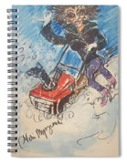 Snow Blowing Spiral Notebook