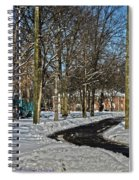 Snow Cleared Road Spiral Notebook