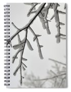 Snow Covered Branches Spiral Notebook