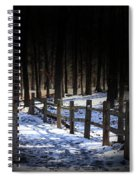Snow Covered Bridge Spiral Notebook