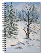 Snow Covered Spiral Notebook