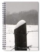 Snow Covered Fence Post Spiral Notebook
