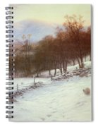 Snow Covered Fields With Sheep Spiral Notebook