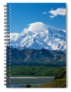 Snow-covered Mount Mckinley, Blue Sky Spiral Notebook