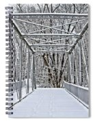 Snow Covered Pony Bridge Spiral Notebook