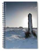 Snow Covered Post II Spiral Notebook