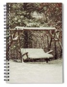Snow Covered Swing Spiral Notebook