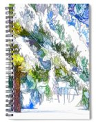 Snow-covered Tree Branch  3 Spiral Notebook