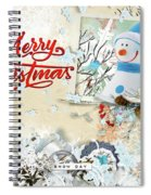 Snow Day Christmas Card Spiral Notebook