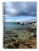 Snow Day On Her Shore Spiral Notebook