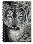 Snow Dragon Leopard Spiral Notebook