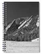 Snow Dusted Flatirons Boulder Co Panorama Bw Spiral Notebook