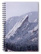 Snow Dusted Flatirons Boulder Colorado Spiral Notebook