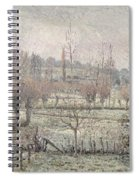 Snow Effect At Eragny Spiral Notebook