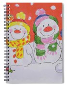 Snow Family Spiral Notebook