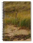 Snow Fence In Sand Spiral Notebook