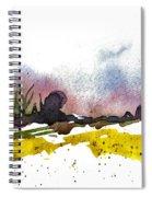 Snow Field Spiral Notebook