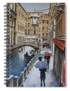 Snow Flurry In Venice Spiral Notebook