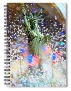 Snow Globe Liberty Spiral Notebook