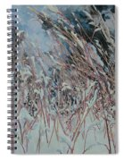 Snow Grass Happiness Spiral Notebook