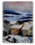 Snow In Ardennes 79 Spiral Notebook