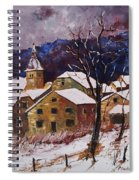 Snow In Chassepierre  Spiral Notebook