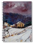 Snow In Sechery Spiral Notebook