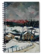 Snow In Sechery Redu Spiral Notebook