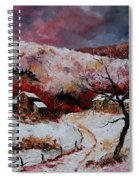 Snow In The Ardennes 78 Spiral Notebook