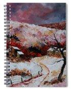 Snow In The Ardennes 78 Spiral Notebook