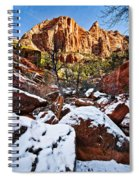 Snow In The Canyons Spiral Notebook