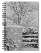 Snow In The Country Spiral Notebook
