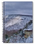 Snow In The Mountains Spiral Notebook