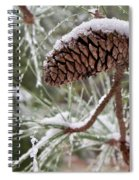 Snow In The Pines Spiral Notebook
