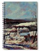 Snow In Vittrival Spiral Notebook